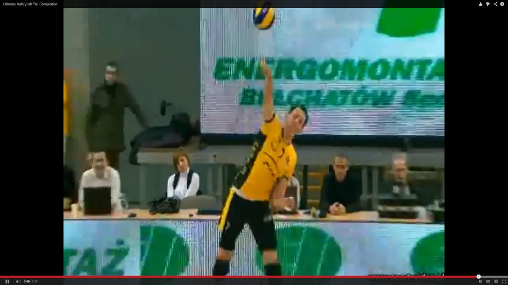 Ausschnitte von ultimativen Volleyball Fehlern