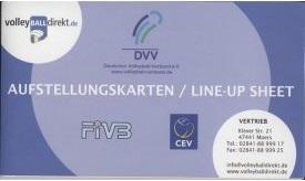 Produktfoto von DVV Aufstellungskarten mit Libero vertrieben durch volleyballdirekt.de