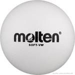 Das Bild zeigt den weißen Molten Softball VW, welcher spezielle für Kinder im Volleyball geeignet ist.