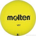 Das Bild zeigt den Molten V5T. Das ist ein gelber Softball ideal für Anfänger.