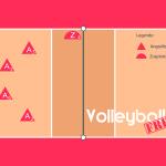 Volleyball Läufersystem mit 2 Steller