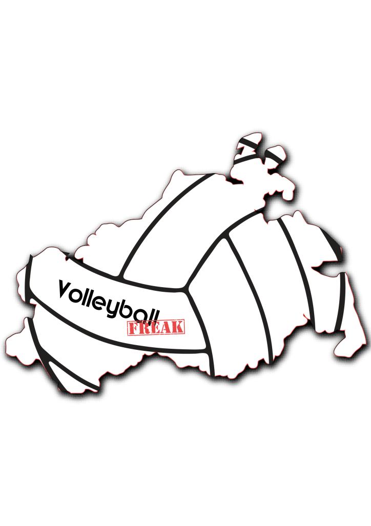 Das Bild zeigt die Umrisse von Mecklenburg-Vorpommern. In der Fläche von des Landes sind die Umrisse eines Volleyballs zu sehen. Desweiteren ist in der Mitte das Logo von VolleyballFREAK
