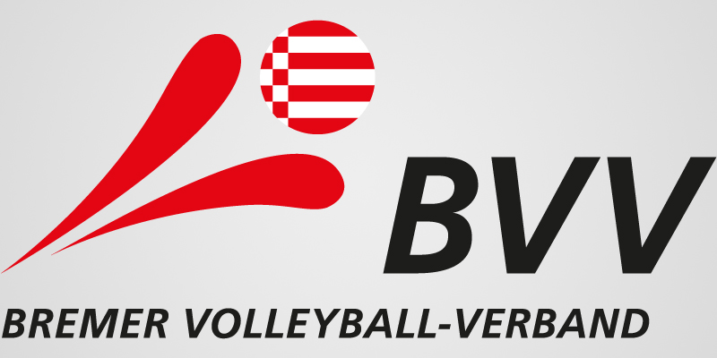 Das Bild zeigt das Logo des Logo des Bremer Volleyball Verband (BVV). Es ist an das Logo vom DVV angelehnt.