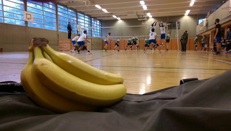 Bananen für den Spieltag kommen immer gut an!