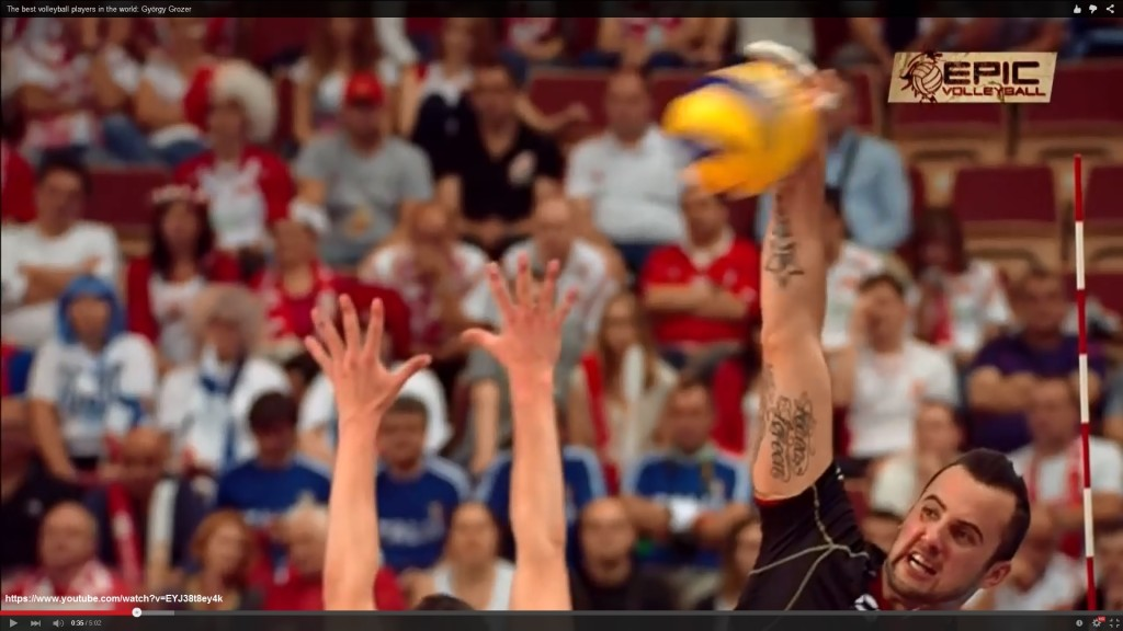 The best volleyball players in the world: György Grozer