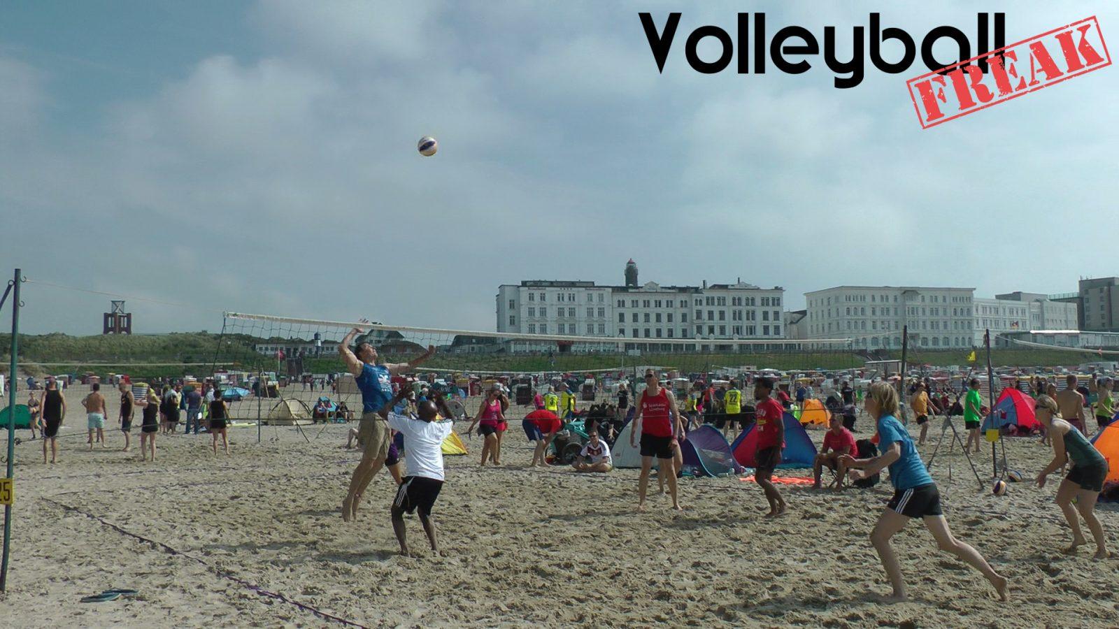 Beachvolleyball auf Borkum