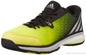 Das Bild zeigt den Adidas Energy Volley Boost 2 Volleyballschuh in neon-gelb