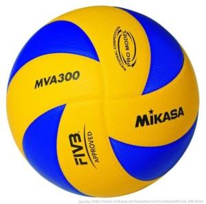 Das Bild zeigt den Mikasa Volleyball MVA 300.