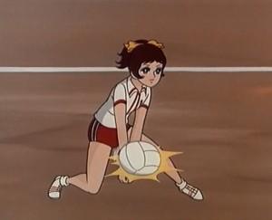 Das Bild zeigt einen Ausschnitt aus der Volleyball Manga-Serie Mila Superstar