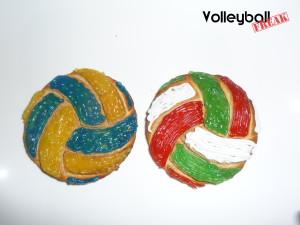 Volleyball-Kekse im Molten und Mikasa-Stil