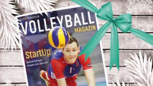 Das Bild zeigt das Cover des Volleyball Magazins als Geschenk