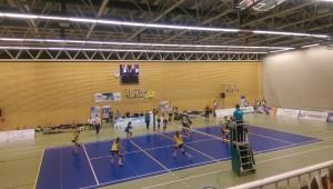 Das Bild zeigt das WVV Pokalfinale 2015 der Damen zwischen Köln und Borken
