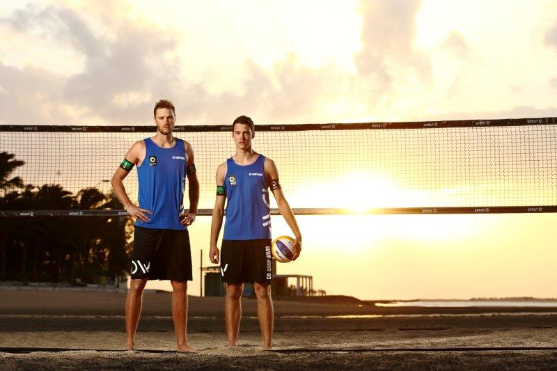 Beachvolleyballteam Armin Dollinger/ Clemens Wickler