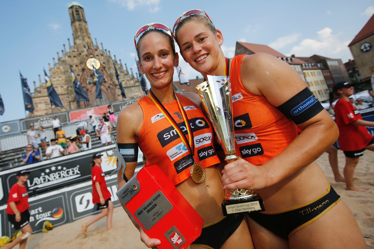 Beachvolleyballteam Katharina Schillerwein/Cinja Tillmann