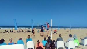 Show-Match der Beachvolleyball-Profis Schweden und Deutschland