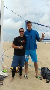 Das Foto zeigt Volleyballer Matevž Kamnik.