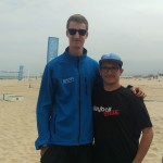 Das Fotozeigt den Bundesliga Volleyballer Noah Baxpöhler