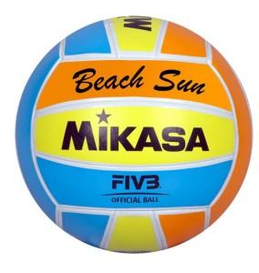 Das Foto zeigt den Beachvolleyball Mikasa Beach Sund
