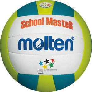 Das Foto zeigt den Molten MBVSM School Master JTFO Beachvolleyball