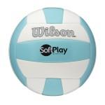 Das Foto zeigt den Wilson Soft Play in der Farbe hellblau mit weiss