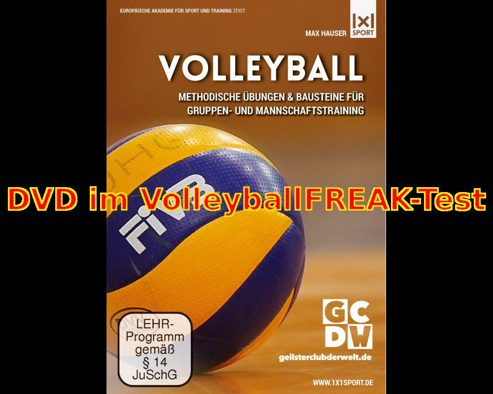 """DVD """"Volleyball – Methodische Übungen & Bausteine für Gruppen- und  Mannschaftstraining"""" im Test"""