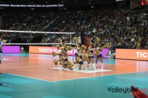 Formation der Alba Dancers beim Volleyball Supercup 2016