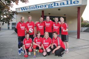 Das Mannschaftsfoto vom Falkenthaler Volleyballverein 72e.V.-Liebenwalde