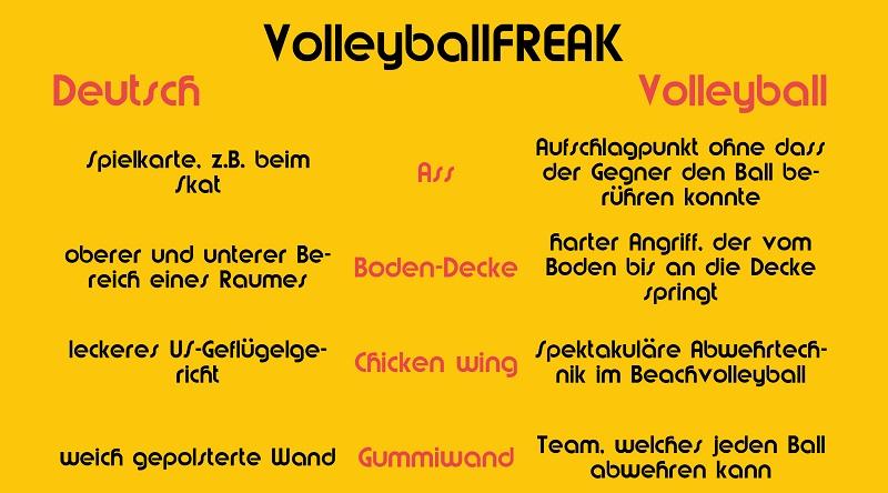 Deutsch – Volleyball: Schnelle Hilfe für ratlose Nicht- Volleyballer!