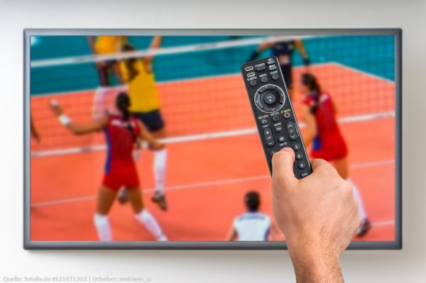 Dies ist ein Symbolfoto. Es steht für die Volleyball Bundesliga, welche live im Free-TV auf Sport1 kommt.