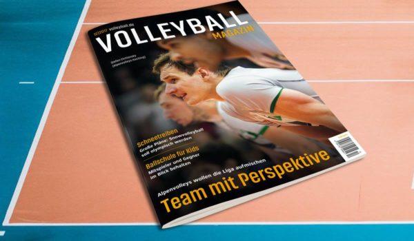 Das Foto zeigt das Cover der Dezemberausgabe 2017 vom Volleyball Magazin