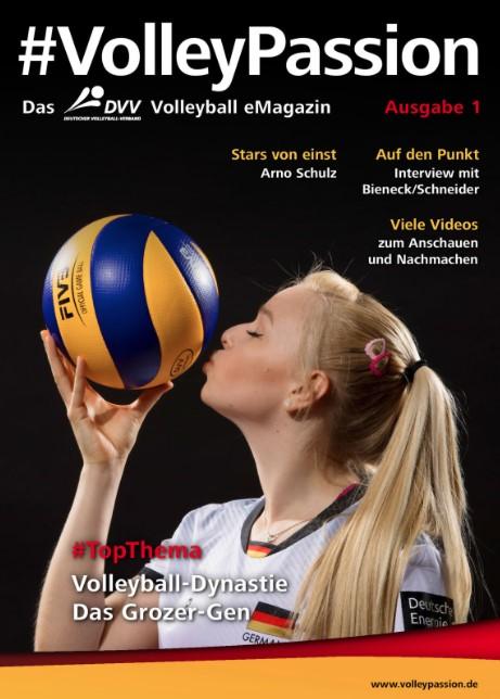 Das Foto zeigt das Cover der 1. Ausgabe vom Volleyball Passion Magazin des DVVs