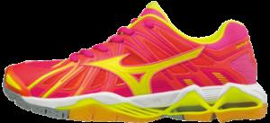 Das Foto zeigt Mizuno Wave Tornado X2 für Damen in den FarbenPink Glo