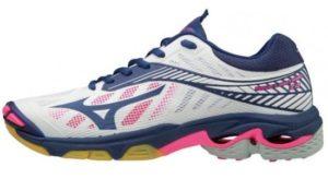 Mizuno Wave Lightning Z4 Volleyballschuh Frauen weiß/dunkelblau/neonpink