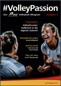 Das Foto zeigt das Cover von der 3. Ausgabe des Magazins #Volleypassion