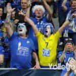 Die Häfler-Fans feiern ihr Team nach dem Sieg im Pokalfinale