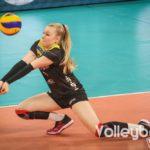 DVV-Pokalfinale 2019: Schwerins Libera Anna Pogany bei der Annahme