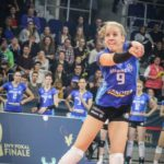 DVV-Pokalfinale 2019: Jana Franziska Poll bringt den Ball zur Zuspielerin