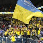 Das Foto zeigt die Gelbe Wand vom SSC Schwerin