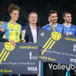 MVPs vom DVV-Pokalfinale 2019 Kimberly Drewniok und Athanasios Protopsaltis