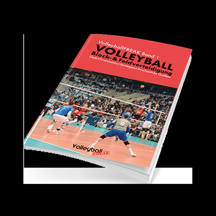 Cover des Volleyball-Ebook zum Thema Block- und Feldverteidigung