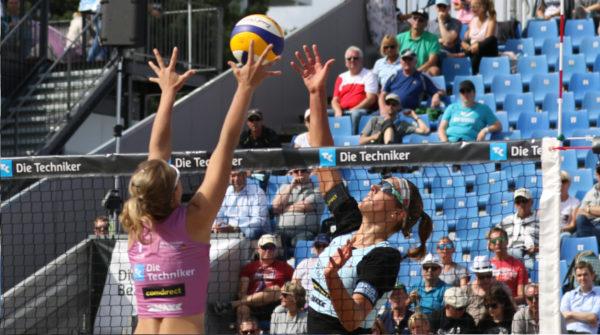 Das Foto zeigt Victoria Bieneck beim Lineshot auf der Deutschen Meisterschaft in Timmendorf 2018