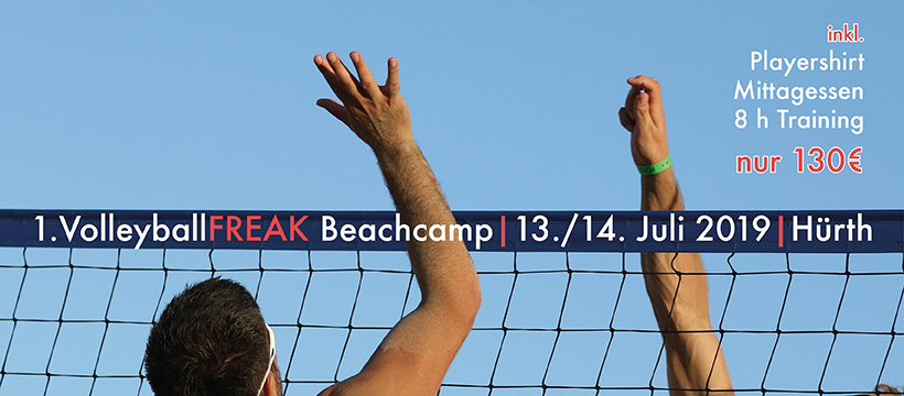 1. VolleyballFREAK Beachcamp am 13.-14.7 in Hürth bei Köln