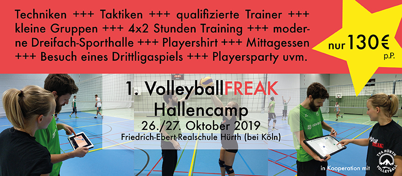 1. VolleyballFREAK Hallencamp am 26-27.10 in Hürth bei Köln