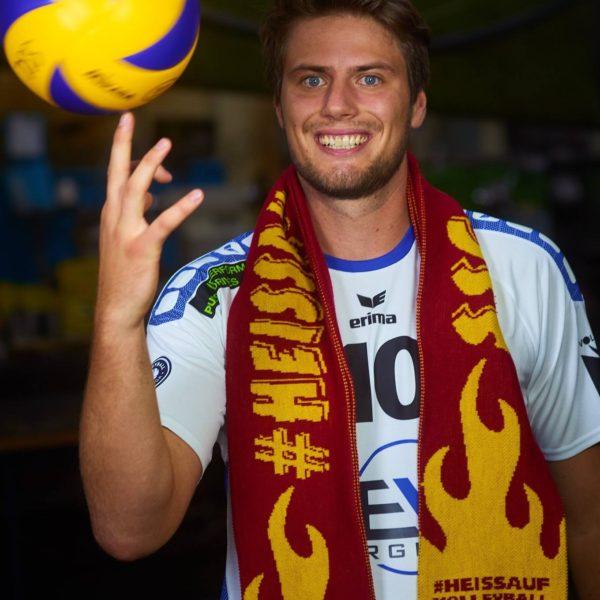 Volleyballschuhtester Tim Kreuzer