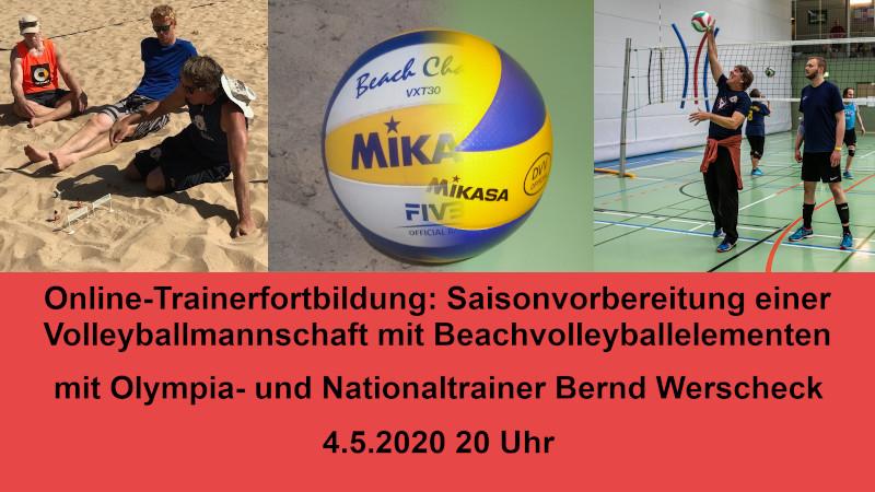 Online-Trainerfortbildung: Saisonvorbereitung einer Volleyballmannschaft mit Beachvolleyballelementen