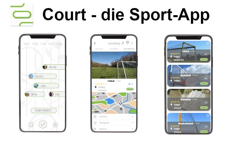 Court – die Sport-App