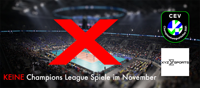 (Keine) Volleyball Champions League im November