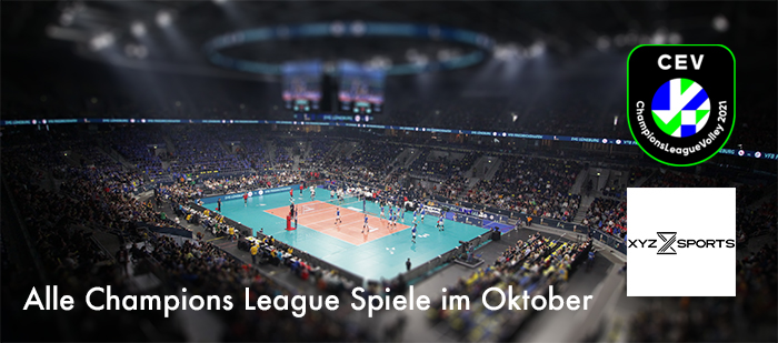 Volleyball Champions League im Oktober