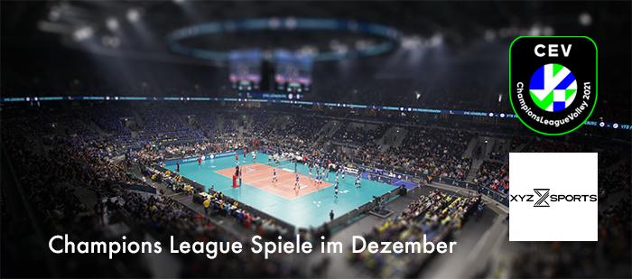 Volleyball Champions League im Dezember – es geht weiter!