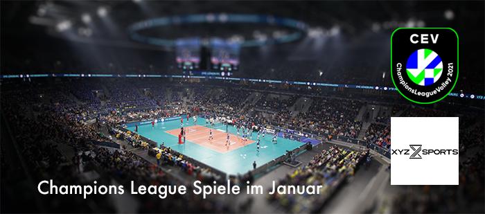 Volleyball Champions League im Januar – es geht weiter!
